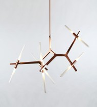 10 Light Chandelier - Copper