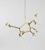 20 Light Chandelier - Brass