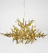 Chandelier - 24 Antlers - Gold