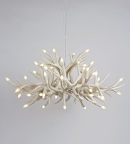 Chandelier - 24 Antlers - White