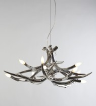 Chandelier - 6 Antlers - Chrome
