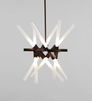 Sconce - 2 Lights (Polished nickel/Straight-cut glass)